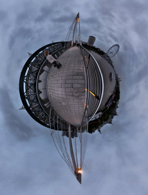 Hungerford Bridge planet